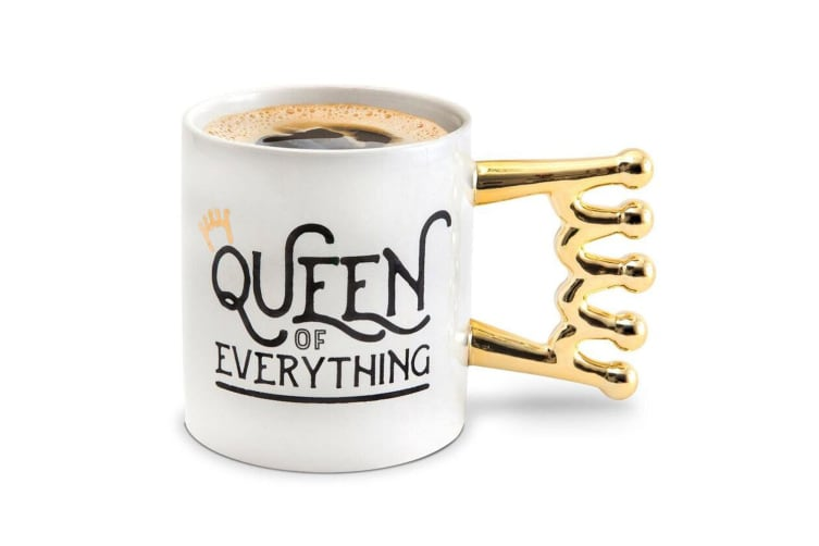 BigMouth The Queen Of Everything Drinkware Tea/Coffee Ceramic Mug Hot Drink WHT