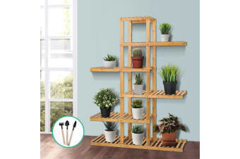 Artiss Garden Plant Stand Bamboo Planter Flower Pots Stand Shelf Indoor Outdoor