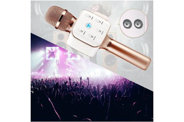 ToSing Q7RG TOSING DUET Singing App Bluetooth Karaoke Speaker Microphone rose gold with bag