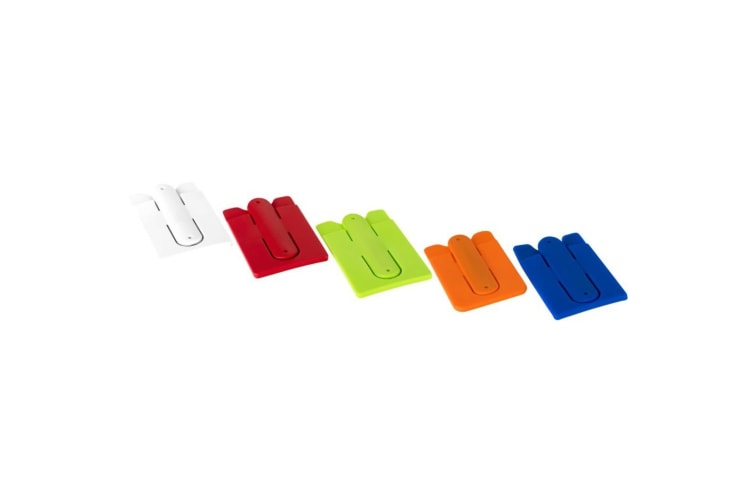 Bullet Silicone Phone Wallet With Stand (Lime) (9.5 x 5.7 x 0.2cm)