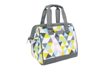 New Sachi Portable Insulated Lunch Bag Case StorageTravel Bag Triangle Mosaic