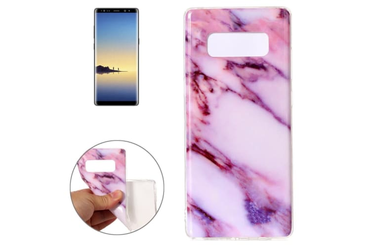 cheaper 9457a cb48c For Samsung Galaxy Note 8 Back Case Modern Marbled Durable Protective Cover  Pink