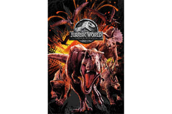 Jurassic World Fallen Kingdom Montage Poster (Multi-colour) (One Size)