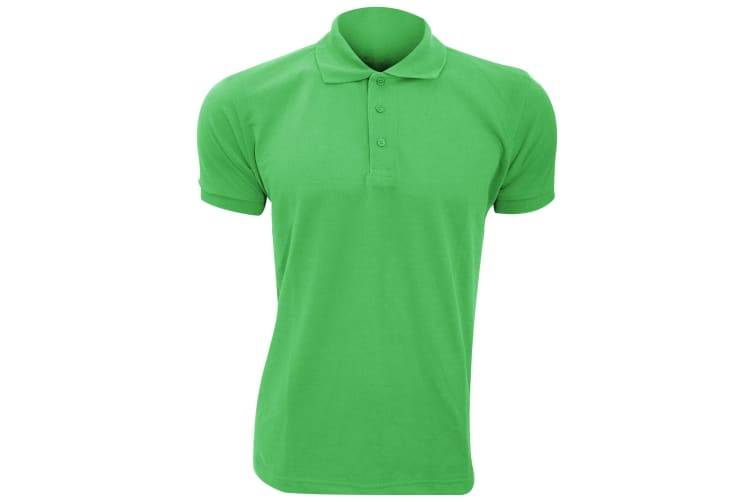 SOLs Mens Prime Pique Plain Short Sleeve Polo Shirt (Kelly Green) (XL)