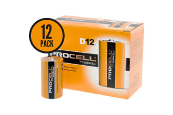 Duracell Procell D size Professional Alkaline Battery 12 Pack