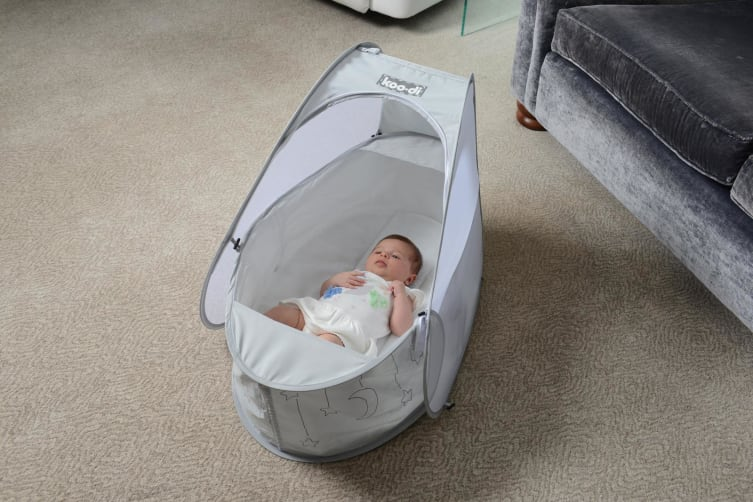 Koodi Pop Up Travel Bassinet Grey