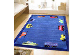 Fun Automobile Boys Rug Blue