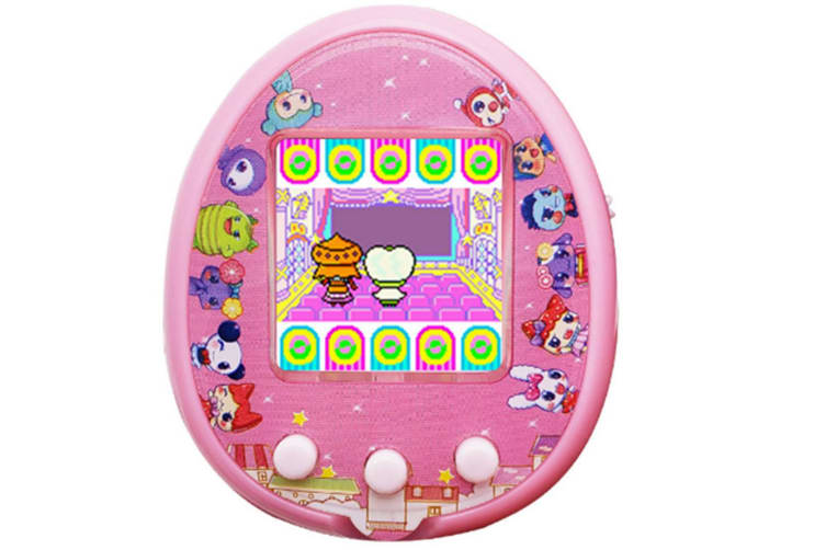 Select Mall LCD Screen Handheld Game for Kids Portable Video Game Player Built-in 12 Classic GamesPet Development Game Machine-Pink