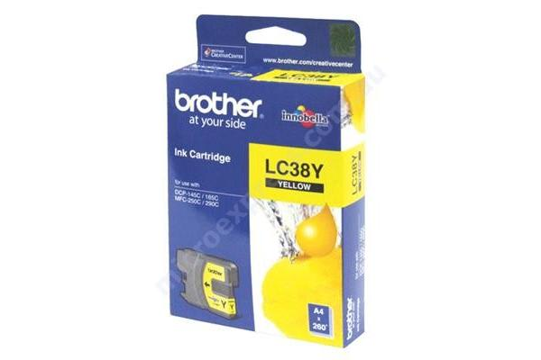 Brother LC-38Y Yellow Ink Suits DCP-165C