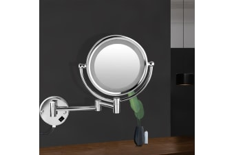 Double Side 10X Magnifying Makeup Mirror LED Wall Mount Bathroom