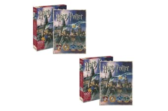 2x Aquarius Harry Potter Hogwarts 1000pc Jigsaw Puzzle/Teen/Kids 14y+ Toys