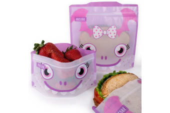 Russbe Snack & Sandwich Bag Set of 4 Purple Monster