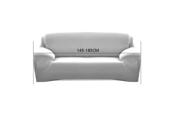 Easy Fit Stretch 2 Seater Couch Sofa Slipcover Protector Cover COFFEE