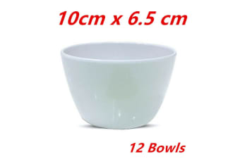 12 x Melamine Round Bowl Event Party Dinner Glossy White Cafe Snack Sauce Small Dish
