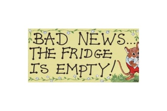 Something Different Bad News The Fridge Is Empty Decorative Sign (Multicolour) (One Size)