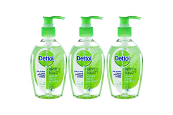 3pc Dettol 200ml Instant Hand Gel Sanitizer Refresh Antibacterial Sanitiser Pump