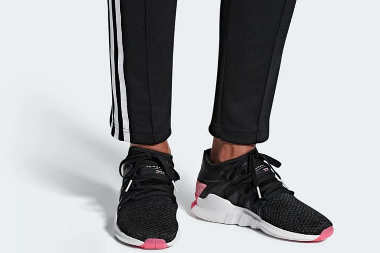 Adidas Women's EQT Racing Adv Shoes (Core Black/Real Pink,Size 8)