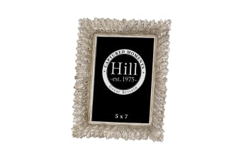Hill Interiors Antiqued Feather Effect Style Photo Frame (Silver/Gold)