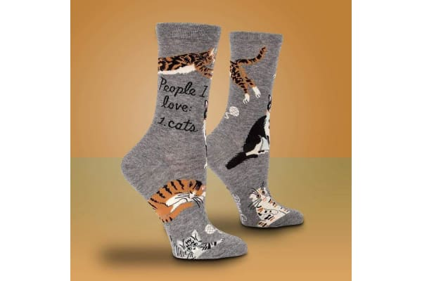 People I Love: Cats Funny Novelty Women`s Socks