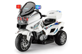ROVOKIDS Electric Ride-On Patrol Motorbike S1K-Inspired Battery Police Toy Bike