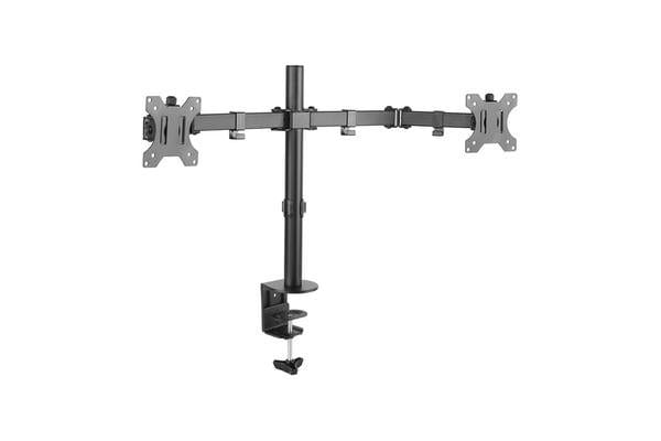 """Black Dot 13"""" - 32"""" Dual Monitor Arm- 10 Year product guarantee Holds up to 7KG each arm"""
