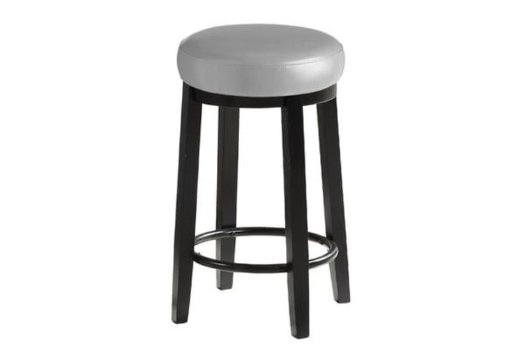 the latest 2f73e e2cfa 2pcs PU Leather Swivel Bar Stool in Dove Grey 75CM Height