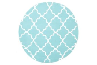 Kids Trellis Design Rug Soft Blue 150x150cm