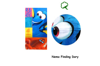 Cotton Bath / Beach Towel Finding Nemo Dory by Disney