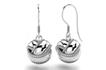 .925 The Knot French Hook Earrings-Silver