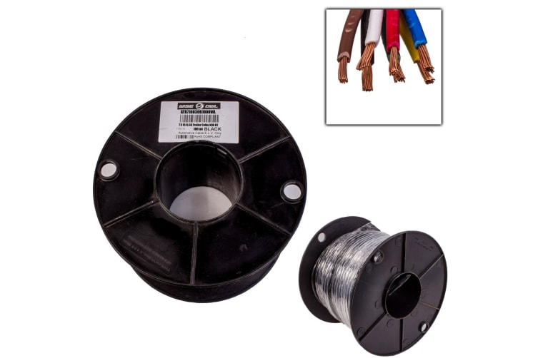 7 CORE 3.0MM x 100 METRES CABLE WIRE WIRING AUTOMOTIVE TRAILER CARAVAN TRUCK OWL