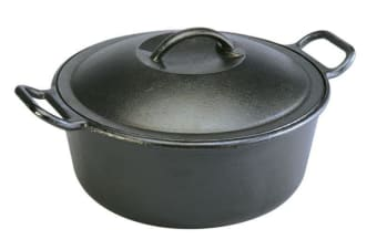 Lodge Cast Iron Dutch Oven with Loop Handles - 39cm 6.6L