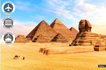 EGYPT: 12 Day Highlights of Egypt Tour Including Flights for Two