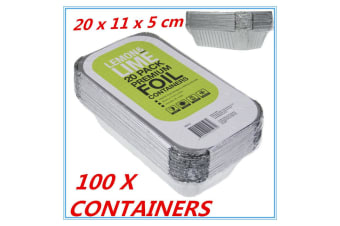 100 X Aluminum Foil Trays BBQ Disposable Roasting takeaway Oven Baking Party with lids