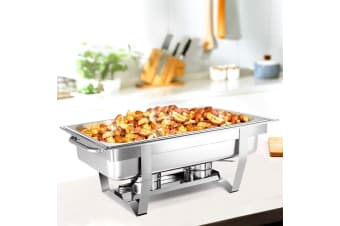 Emajin 9L Bain Marie Bow Chafing Dish Set Stainless Steel Food Buffet Warmer