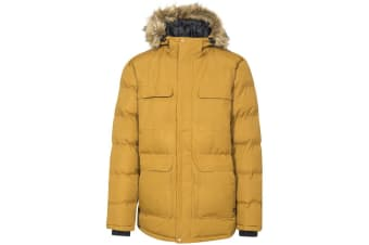 Trespass Mens Baldwin Padded Waterproof Jacket (Golden Brown) (L)
