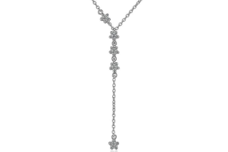 Sweet Hansei Necklace-White Gold/Clear