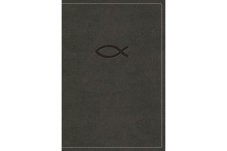 KJV, Thinline Bible Youth Edition, Leathersoft, Gray, Red Letter Edition, Comfort Print