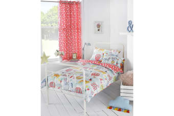 Riva Paoletti Childrens/Kids Vintage Circus Ringtop Eyelet Curtains (Multicolour)