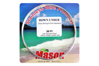 30ft Coil of 15lb Mason Down Under Soft Stainless Steel Fishing Wire Leader