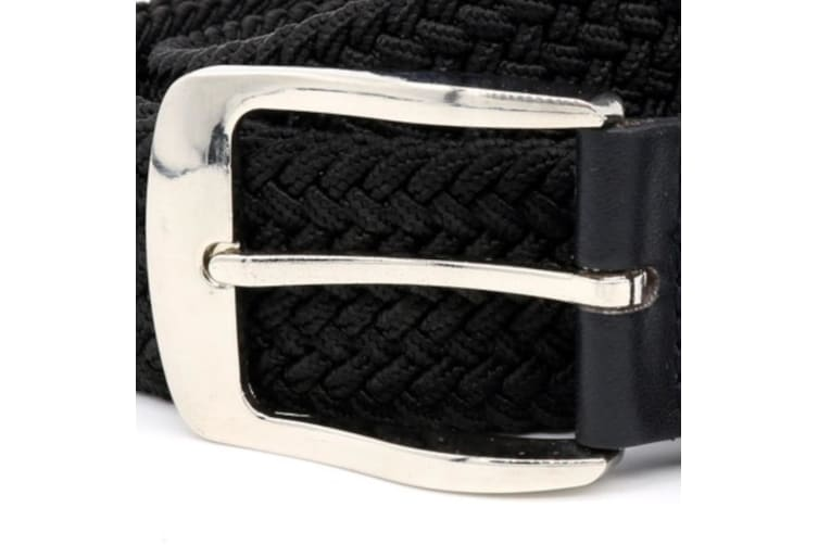 Duke Mens Simon Stretch Braided Belt (Black) (2XL)