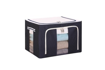Large Capacity Clothing Box Waterproof And Moistureproof Quilt Receiving Box - Navy Dots Blue 100L(60X40X32)