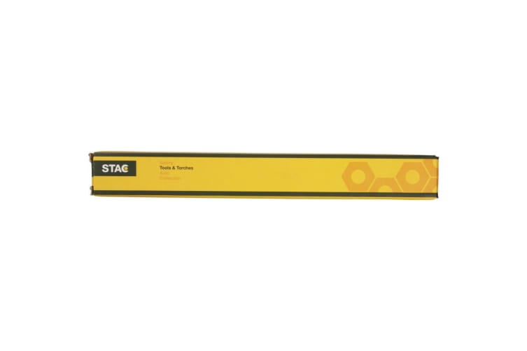 STAC Telescopic Flashlight With Cob Sidelight (Solid Black) (25 x 3 cm)