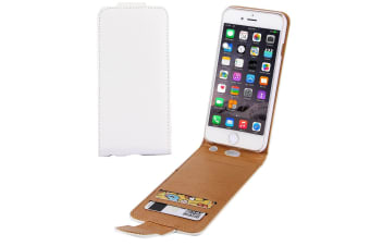 For iPhone 6S PLUS 6 PLUS Wallet Case Vertical Flip Lychee Leather Cover White