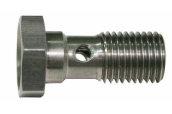 Aeroflow Banjo Bolt 7/16-24 Stainless 20mm Long