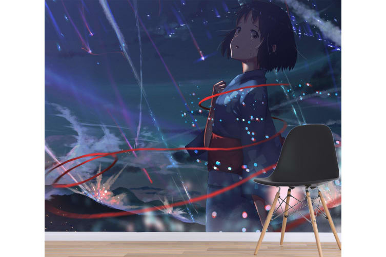 3D Your Name 081 Anime Wall Murals Woven paper (need glue), XXL 312cm x 219cm (WxH)(123''x87'')