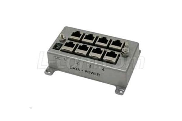HyperLink Technologies BT-CAT6-P4 4-Port CAT6 Passive Gigabit Midspan Injector