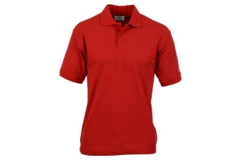 Absolute Apparel Mens Titan Polo (Red)
