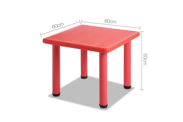 Kids Table Play Set (Red)