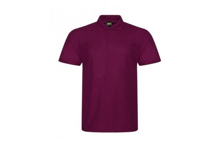 PRO RTX Mens Pro Polyester Polo Shirt (Burgundy) (M)