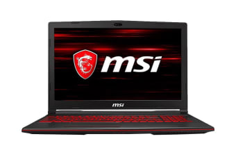 "MSI GL63 8RDS 15.6"" Core i7-8750H 8GB RAM 512GB SSD GTX1050Ti W10H Gaming Laptop"